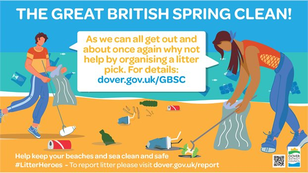 Great British Spring Clean banner - BEACH