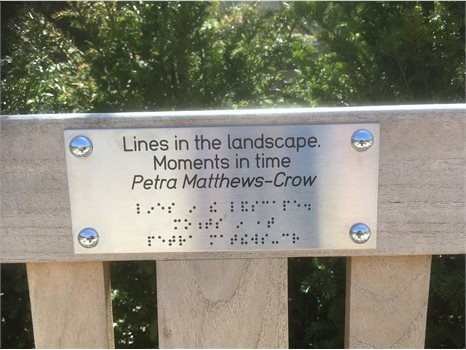 Poetry bench