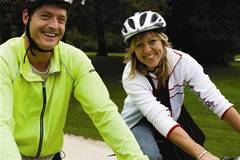 pair of people cycling