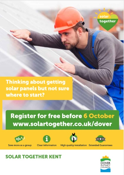 Thinking about getting solar panels but not sure where to start? Register for free before the 6th of October www.solartogethe.co.uk/dover
