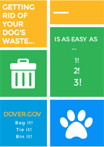 Getting rid of your dog waste is easy. Bag it! Tie it! Bin it!