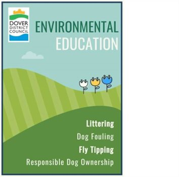 Environmental Education poster, Littering, Dog fouling, Fly tipping, responsible dog ownership