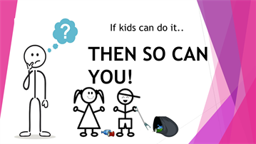 If kids can do it so can you! Put your litter in the bin.