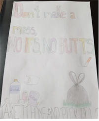 Dont make a mess, No If's No Butts poster