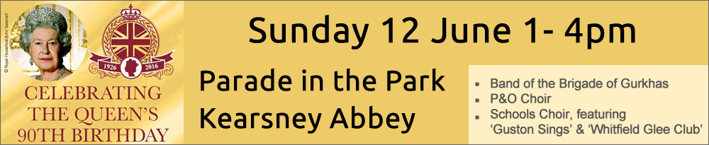 parade in the park banner - home