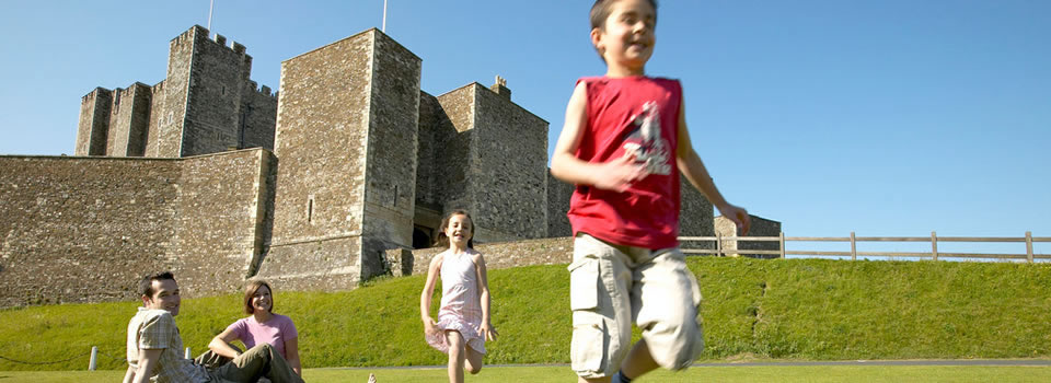 Family at Dover Castle