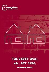 party wall act On party wall act guidance