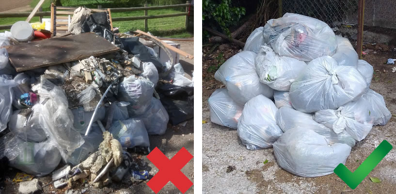 Litter pick examples
