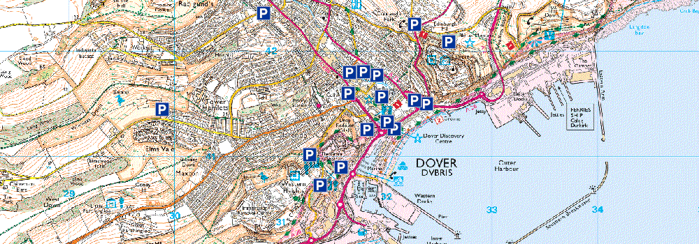 Dover Parking Map